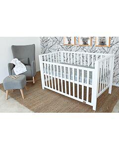 Babyhood: Lulu Cot (White) + My First Breathe Eze Innerspring Mattress + 5pcs Bedding Set - 5% OFF!!
