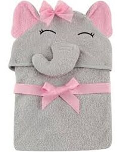 Luvable Friends: Animal Hooded Towel Embroidery (Elephant girl) *57057* - 20% OFF!!