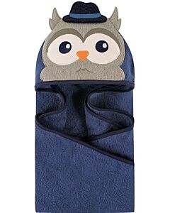 Luvable Friends: Animal Hooded Towel Embroidery (Mr.Owl) *57085* - 20% OFF!!