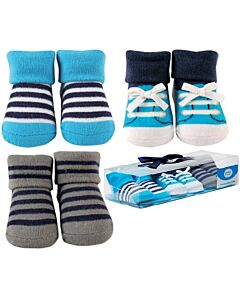 Luvable Friends Gift Set: Girl Baby Socks - 3 Pairs (07188) - 21% OFF!!