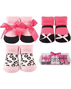 Luvable Friends Gift Set: Girl Baby Socks - 3 Pairs (07183) - 21% OFF!!