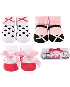Luvable Friends Gift Set: Girl Baby Socks - 3 Pairs (07186) - 21% OFF!!
