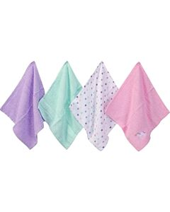 Luvable Friends: Washcloths - 4pc (Woven Purple 57254) - 32% OFF!!