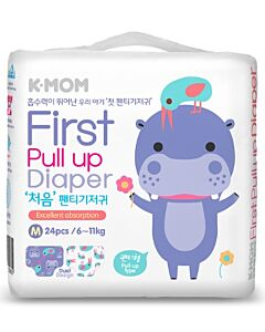 K-MOM First Pull Up Diaper M 24pcs (6kg - 11kg) - 11% OFF!!