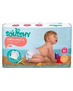 Squishy Disposable Swim Pants - M (9 - 14kg)(10 pieces)