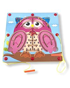 Funny Kid's: Animal Magnetic Maze - Owl - 10% OFF!!