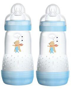 2 x MAM Easy Start Anti-Colic Bottle 260ml/9oz - Teat 2 (Blue)