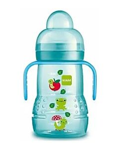 MAM Trainer+ 220ml/8oz (Spill-free Extra Soft Spout) (4+ Months) - Blue