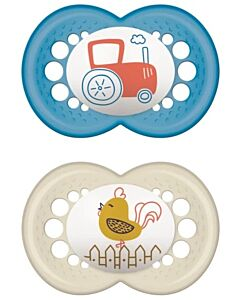 MAM Pacifier - ORIGINAL (16+months) Twin Set - (car/ bird) - 10% OFF!!