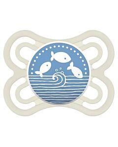 MAM Pacifier - PERFECT | 0+ Months | Single -  White/ Dark blue