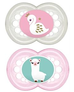 MAM Pacifier - ORIGINAL (6+ mths) Twin Set (Pink/Turquoise)