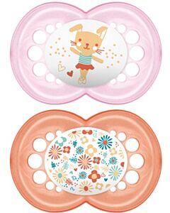 MAM Pacifier - ORIGINAL (16+months) Twin Set - Ballerina bunny / flowers - 10% OFF!!