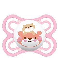 MAM Pacifier - PERFECT Newborn pacifier  2-6 Months   Single - Pink cat