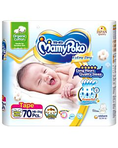 MamyPoko: Extra Dry Organic Cotton Tape NB70