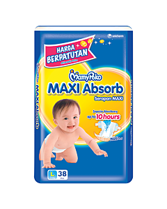 MamyPoko Maxi Absorb L38 (9-14kg) - 19% OFF!!