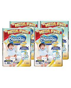 MamyPoko Extra Dry Skin Pants Unisex (FOR BOYS & GIRLS) L50 (9kg ~ 14kg) *4 PACK BUNDLE*
