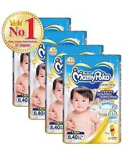 MamyPoko Extra Dry Skin Tape XL40 (12kg ~ 17kg) *4 PACK BUNDLE*