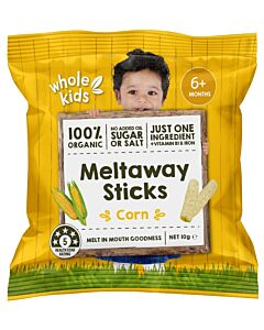 Whole Kids: Organic Meltaway Sticks - Corn 10gm (From 6+ Months) - 10% OFF!!