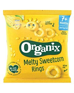 Organix Finger Foods Melty Sweetcorn Rings 20g (7+ Months)