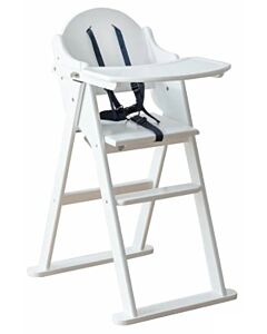Funbies: Mike Foldable Wooden High Chair (White) - 8% OFF!!