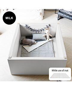 ALZiP® Mat Bumper Bed   Size EX-L (140*156*60cm) - Milk