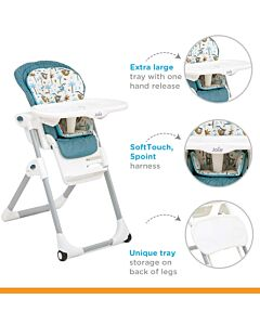 Joie: Mimzy 2in1 Highchair (6 Months To 15kg) - Tropical Paradise - 17% OFF! (RM 100 OFF!!)