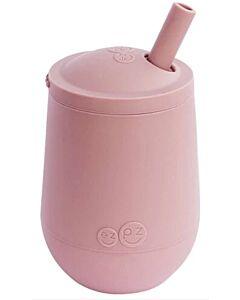 EZPZ Mini Cup + Straw | Silicone Mini Cup + Straw Training System (12+ Months) | Blush