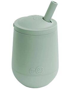 EZPZ Mini Cup + Straw | Silicone Mini Cup + Straw Training System (12+ Months) | Sage