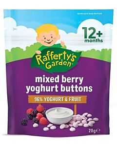 Rafferty's Garden: Mixed Berry Yoghurt Buttons 28g (12+ Months) - 10% OFF!!