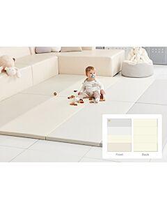 ALZiP® Mat Baby Foldable Silion Playmat   Size G (200*140*4cm) - Modern Grey