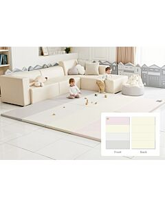 ALZiP® Mat Baby Foldable Silion Playmat   Size SG (240*140*4cm) - Modern Pink