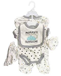 Earth Bebe: 5 in 1 Multi Set - Mommy's Little Sunshine (0 - 3 Months)