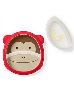 Skip Hop: Zoo Smart Serve Plate & Bowl - Monkey - 15% OFF!!