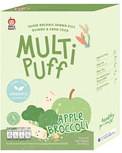 Apple Monkey Organic Multi Puff - Apple Broccoli 25g - 15% OFF!!