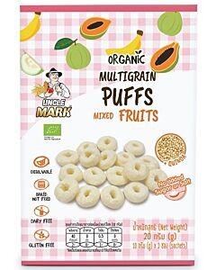 Uncle Mark: Organic Multigrain Puff (10gm x 2's) - Mixed Fruits (Banana, Guava & Papaya) - 35% OFF!!