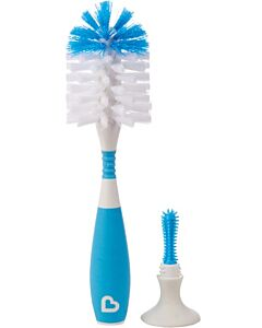 Munchkin: Bristle Bottle Brush & Nipple Brush (Blue) - 30% OFF!!
