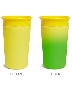 Munchkin: Miracle® 360° Color Changing Cup 9oz Yellow (1 piece) - 20% OFF!!
