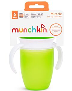 Munchkin: Miracle 360° Trainer Cup 7oz (Green) - 20% OFF!!