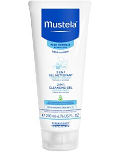Mustela: 2 in 1 Cleansing gel (Hair and Body Wash) - 200ml - 40% OFF!