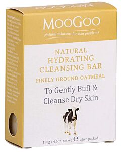 MooGoo: Natural Hydrating Cleansing Bar 130gm (Finely Ground Oatmeal) - 12% OFF!!