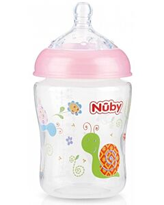 Nuby: Natural Touch Infant Bottle 9oz/270ml (0+ Months - Slow Flow) - Pink - 22% OFF!!