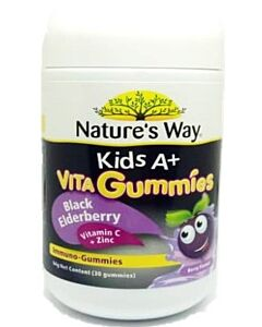 Nature's Way Kids A+ Vita Gummies Black Elderberry Vitamin C + Zinc 30s (64g) - 40% OFF!!