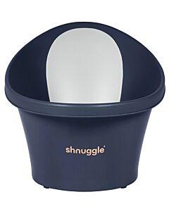 Shnuggle Baby Bath Tub With Plug & Foam Backrest NEW!  | Navy - 16% OFF!!
