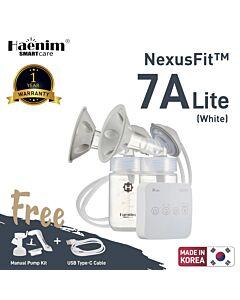 Haenim NexusFit™ 7A-LITE Ultraportable Electric Breast Pump - White