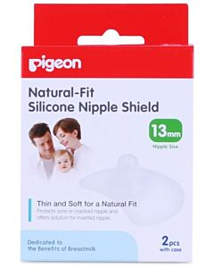 Pigeon Silicone Breast Shield L 13MM 2'S - 19% OFF!