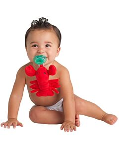 Nookums Paci-Plushies Lexi Lobster Buddies™ Pacifier Holder (Plush Toy Includes Detachable Pacifier, Use with Multiple Brand Name Pacifiers) - 18% OFF!!