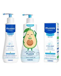 Mustela: Normal Skincare Set (Gentle Cleansing Gel + Body Lotion + Facial Cream) - 20% OFF!!