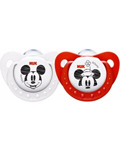 NUK: Disney Mickey Sleeptime Silicone Soothers (Pacifiers) (0-6 months) - 2pcs - 39% OFF!!
