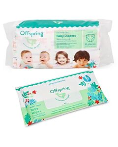 Offspring Trial Pack - Fashion Diapers S3 + Wipes 20s