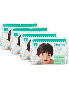Offspring Fashion Diapers (Chlorine Free) L36 - Giraffe *4 Pack Bundle*